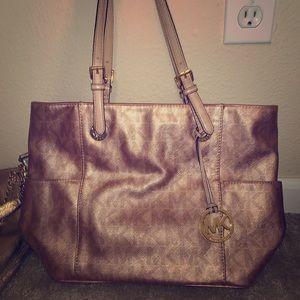 Rose Gold Michael Kors purse